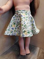 18Skirt--Circle Skirt Green Floral