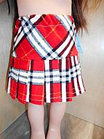 18Skirt--Pleated Red Tartan