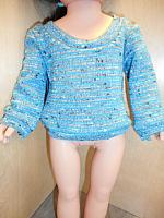 18Sweater--Teal Mottled Pullover