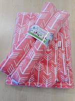 BBHHz--Arrows on Coral Baby Blanket & HHz