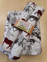 BBHHz--Grey & Red Bucks Blanket & HHz