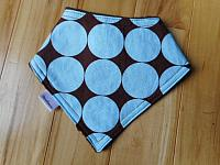 Band--Blue dots on brown minky