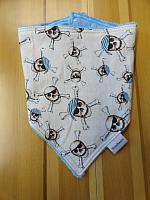 Bandana--Pirate Skulls on Sky minky