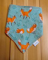 Bandana--Forest Fellows on Orange minky