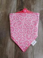 Bandana--Pink with White Swirls on Watermelon minky
