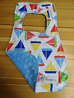 Bib--Sailboats on Sky minky