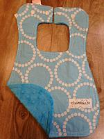 Bib--Dots on Sky minky