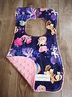Bib--Faraway Adventures on Paris Pink minky