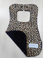 Bib--Giraffe Spots on Black minky