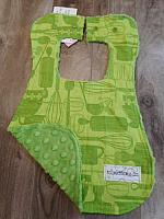Bib--Green Kitchen on Olive minky