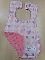 Bib--Happily Ever After on Coral minky