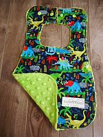Bib--Land Before Time on Lime minky