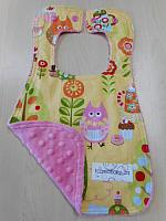 Bib--Tea Party on Paris Pink minky