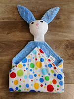 Bunny Lovie with Blue Polka Dots