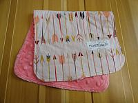 Burpie--Arrows on Coral minky