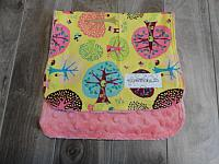 Burpie--Fairyville on Coral minky
