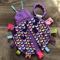 Crinkle--Ladybug Purple Love