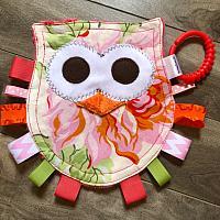 Crinkle--Pink Floral Owl