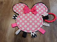 Crinkle--Minnie Mouse Pink Polka Dots