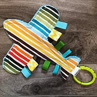 Crinkle--Striped Airplane