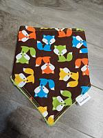 Bandana--Foxes on Jade minky