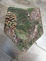Bandana--Pine Tree Camo on Hunter minky