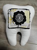 Tooth--Black/Yellow Floral