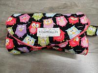DC--Snooze Owls on Watermelon minky