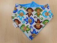 Band--Blue Monkey Toss on Azure minky