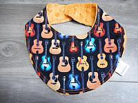 Droolie--Guitars on Pumpkin minky