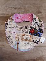 Droolie--Paris on Dusty Rose minky