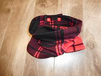 Infinity--Red & Black Plaid