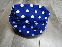 Infinity--Polka dots on Royal Blue