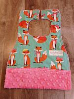 MBib--Fabulous Female Foxes on Paris Pink minky