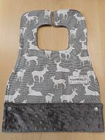 MBib--Grey Deer on Grey minky