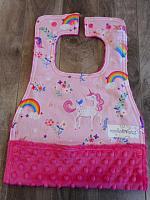 Mbib--Happy Pink Unicorns on Fushia minky