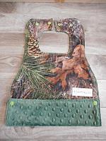 MBib--True Timber Pine on Hunter minky