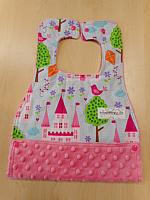 MBib--Princess Castles on Paris Pink minky