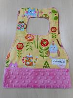 MBib--Tea Party on Paris Pink minky