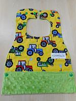 MBib--Tractors on Jade minky