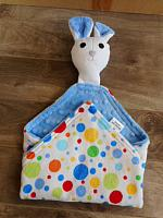 Mouse Lovie with Blue Polka Dots