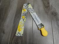 SClip--Yellow & Grey Floral