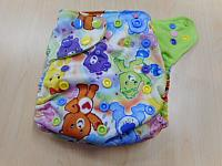 PKT--Rainbow Bears w ribbit microfleece interior