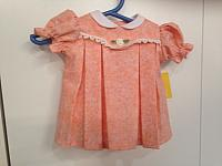 Lg--Peach pleated dress & panties set *