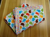 Receiving Blanket--Colourful birds with polka dot back