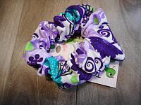 LgScrunch--Purple Floral