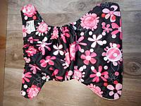 SWM--Pink Floral on Black w White AWJ