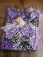 TBGS--Purple Floral Carseat Blanket/Huggerz on Lilac minky
