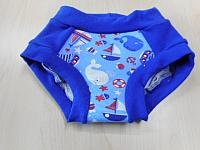 TRNR2--Sailboats & Whales w Royal Blue accents