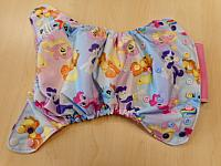 AIO--Pastel Ponies w Bubblegum microfleece